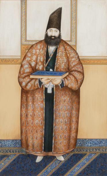 Portrait de Hussein Ali Khan Mu'ayyir Al-Mamalik  D'après Abu'l Hasan Ghaffari Sani...