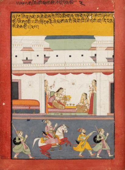 Dhanashri Ragini  Miniature provenant d'un...