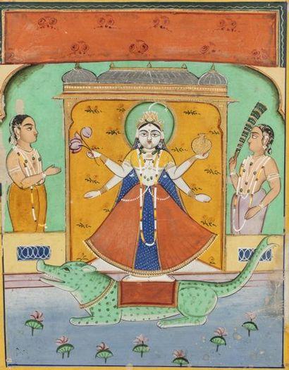 Kali dansant sur le corps de Shiva  Miniature...