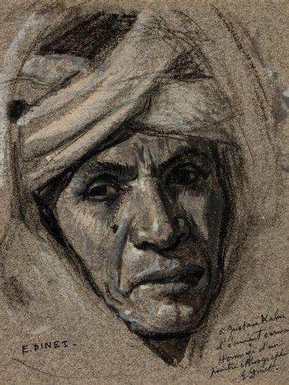 Etiennne DINET (Paris 1861 - 1929)   Portrait...
