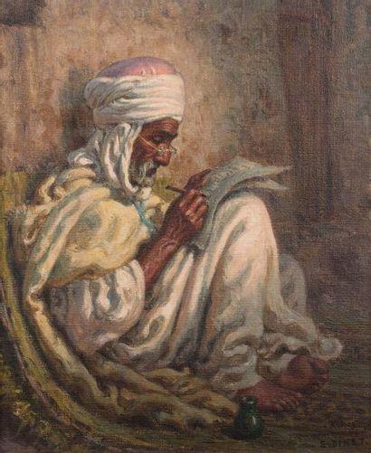 Etiennne DINET (Paris 1861 - 1929) Le vieil...