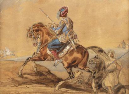 Noël Dieudonné FINART (1797-1852)  Cavaliers...