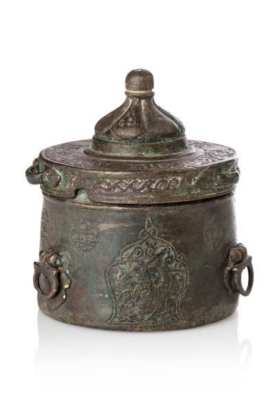 Petit Encrier du Khorassan  cylindrique en...