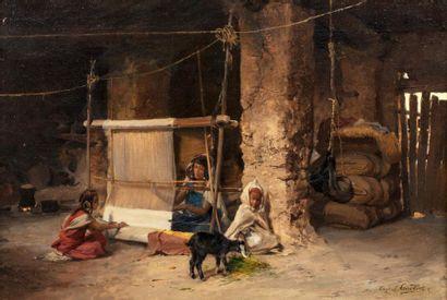 Eugène Alexis GIRARDET (1853-1907)  Les tisserandes...