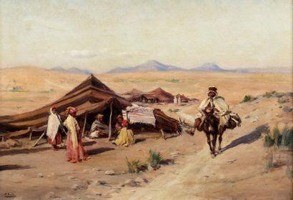 Paul SAIN (Avignon 1853 - 1908) Campement...