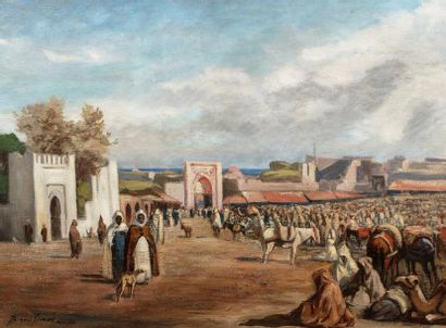 Jacques Roger SIMON (Paris 1875-1965)   Tanger...