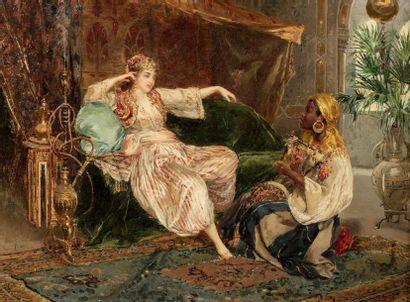 Ettore SIMONETTI (Rome 1857 - 1909)  Deux...