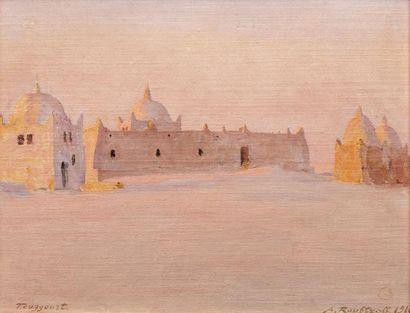 Alexandre ROUBTZOFF (Saint Petersbourg 1884 - Tunis 1949)  Le tombeau des Beni Djellab,...