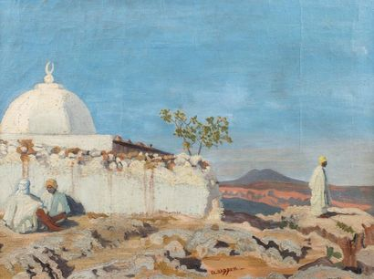 Eva HADDOU ( Alger 1901 - 1980 )   Marabout...