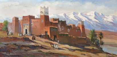 Paul NERI (1899 - 1969)   Ksour dans l' Ayachi,...