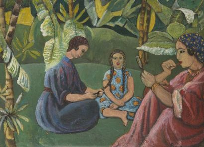 André SURÉDA (1872-1930)  Femmes à la toilette...