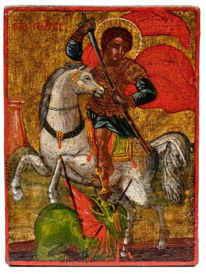 Saint George terrassant le dragon. Macédoine....