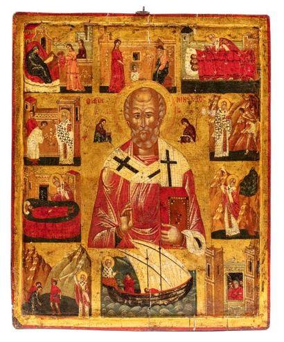 Saint Nicolas le Thaumaturge, dix scènes...