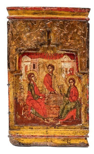 La Trinité, Ancien Testament. Grèce XVIIe...