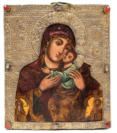 Vierge Eleousa ( de tendresse). Russie XVIIIe...