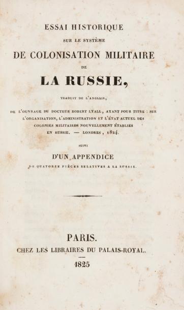 RUSSIE- REGNE D'ALEXABNDRE Ier. Lot de 2 livres : Tableaux de Pétersbourg ou lettres...