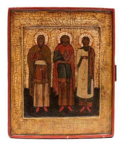 Les trois Saints Hiérarques. Novgorod. 1600...