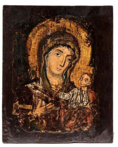 Vierge Hodigitria , Theotokos. Grèce XVIIIe...