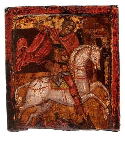 Saint Georges terrassant le dragon. Russie....