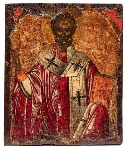 Saint Nicolas. Grèce. 1600.  Le saint le...