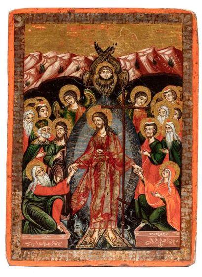 La descente du Christ aux limbes. Anastasis....
