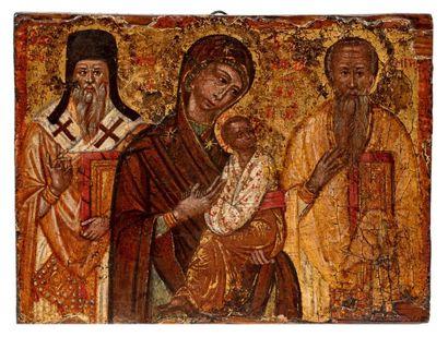 Vierge à l'enfant avec Saint Denys l'Aéropage...