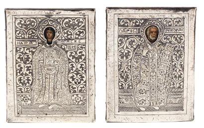 Ensemble de deux icônes. Saint Nicolas –...