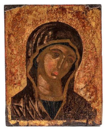 Mère de Dieu, Theotokos. Grèce XVII / XVIIIe...
