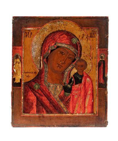 Icône représentant la Mère de Dieu de Kazan....