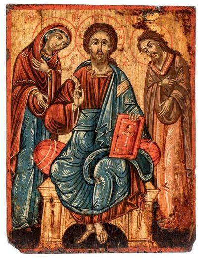 Deisis. Grèce 1800-1850  La Vierge et Saint...