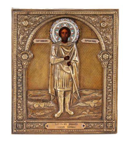 Icône de Saint Eustache de Rome.  Général...