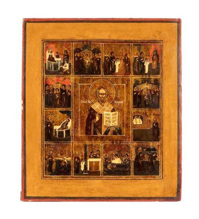Icône hagiographique de saint Nicolas le...