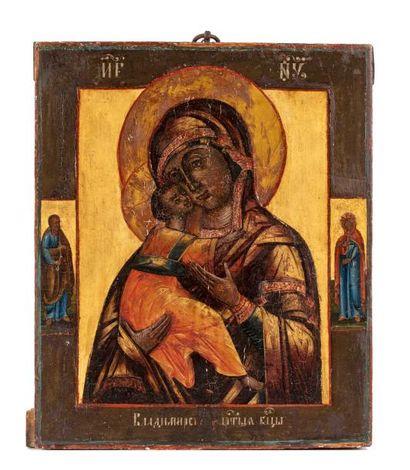 Icône de la Vierge de Wladimir.  Vierge de...
