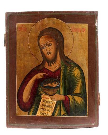 Icône de Saint Jean le Précurseur.  Tempera...