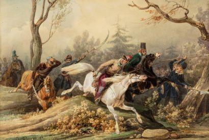 Noël-Dieudonné Finart (1797-1852)  Cosaques...
