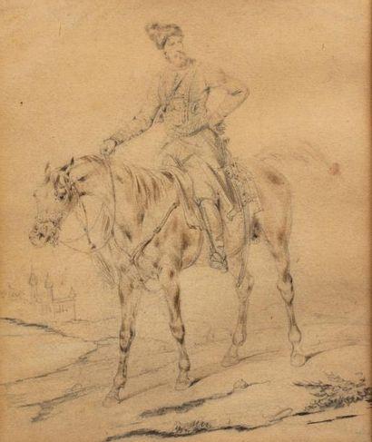 VERNET Carle (1758-1835), attribué à.  Cosaque...