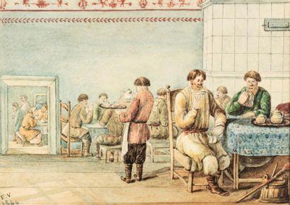 VACHERON E., école français du XIXe siècle....