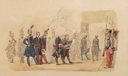 LAMI Eugène (1800-1890).  L'arrivée du Président...