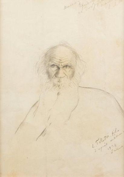 TOLSTOÏ Lev Lvovich (1869-1945).  Portrait...