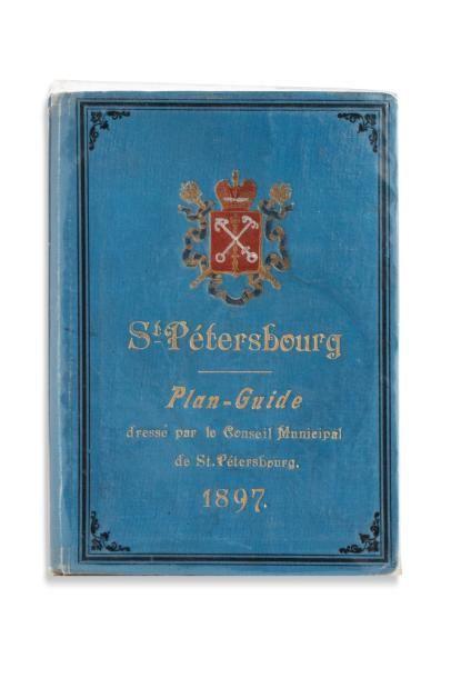 SAINT-PETERSBOURG. Plan-Guide dressé par...