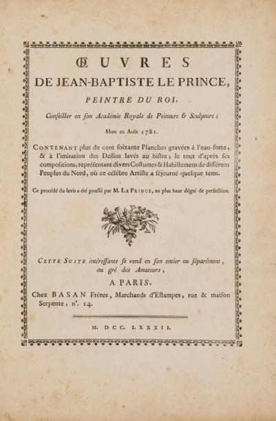 LE PRINCE Jean-Baptiste (1734-1781). Œuvres,...