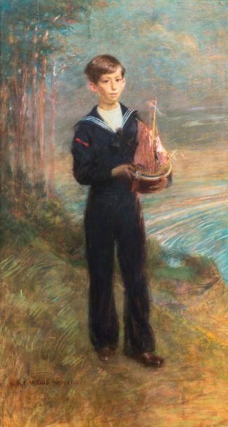LÉANDRE Charles Lucien (1862-1934).  Portrait...