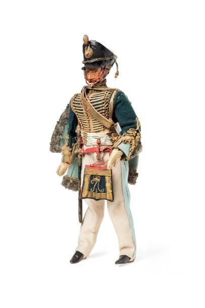 Statuette d'officier du régiment de hussards...