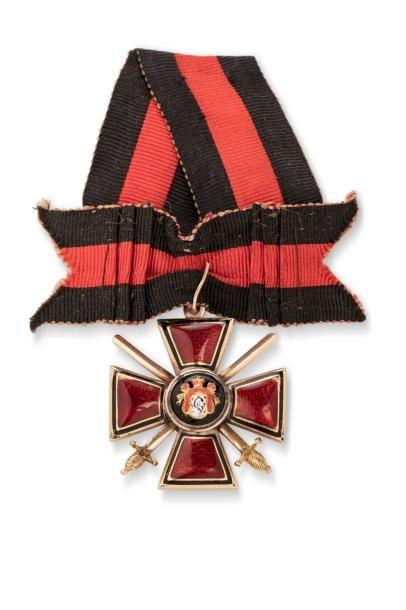 Croix de Saint Wladimir 4e classe, avec glaives....