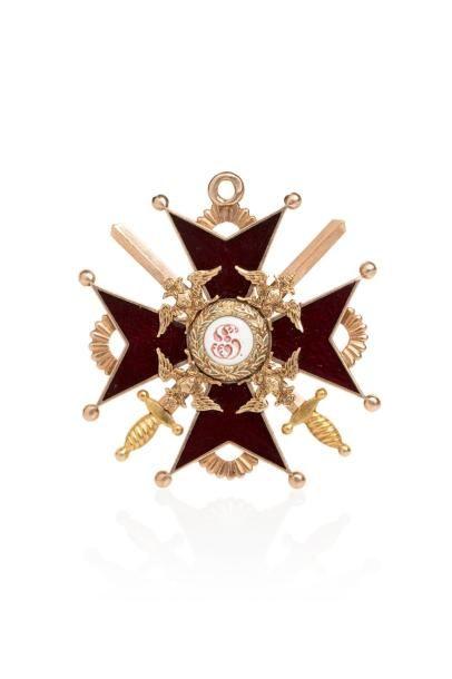 Croix de Saint Stanislas 3e classe, avec...