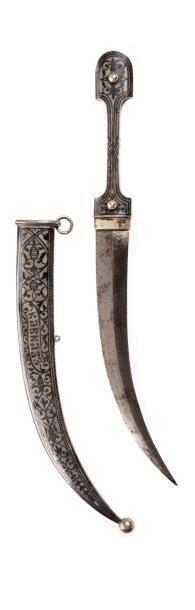 Kindjal caucasien recourbé en argent (875...