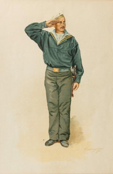 Marin de l'équipage de la garde. Circa 1900....