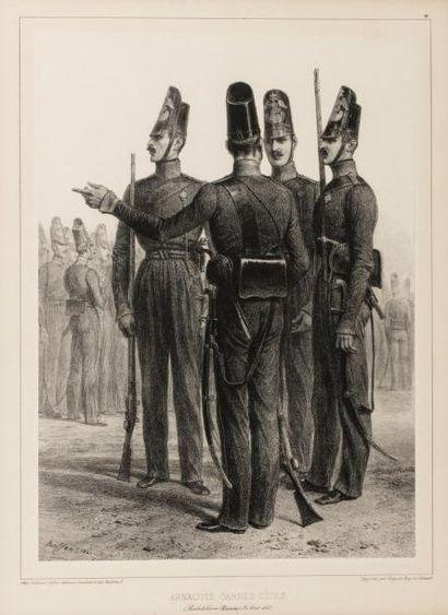 Raffet. 1841. Groupe d'Arnaouts, gardes-côtes...