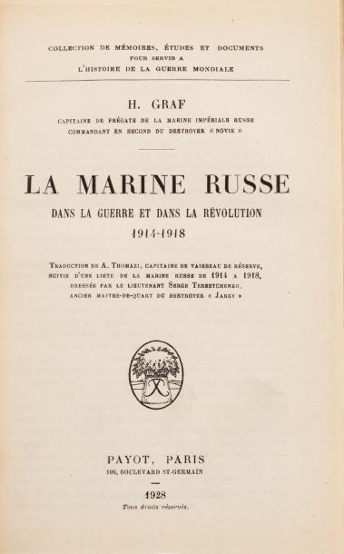 GRAF H. LA MARINE RUSSE DANS LA GUERRE ET...