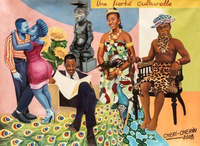 CHERI CHERIN (né en 1955)  Une fierté culturelle, 2018  Acrylique sur toile signée...